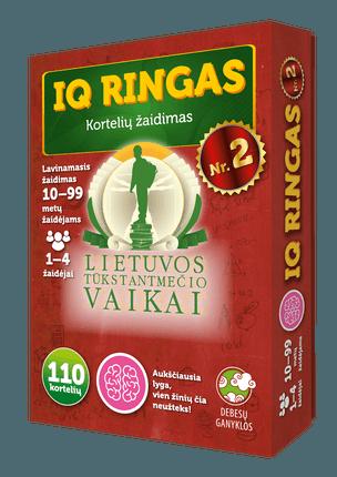 IQ ringas Nr. 2. Kortelių žaidimas. Lietuvos tūkstantmečio vaikai