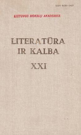 Literatūra ir kalba XXI