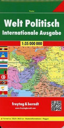 Welt politisch international 1 : 35 000 000