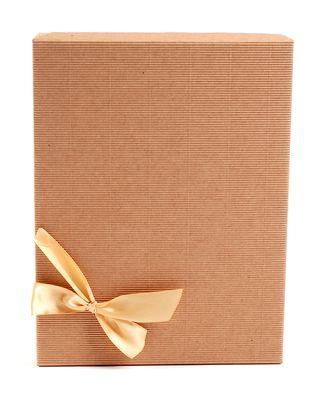 Dėžutė knygoms (ruda, 19,5 x 25,5 cm)