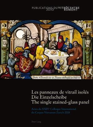 Les panneaux de vitrail isolés.  Die Einzelscheibe .  The single stained-glass panel
