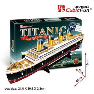 """3D dėlionė: laivas """"Titanikas"""" (mažas)"""