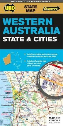 Western Australia State & Cities 1 : 2 900 000