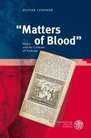 """Matters of Blood"""