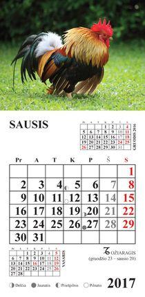 """2017 metų kalendorius su magnetu """"Gaidys"""""""