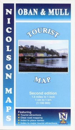 Nicolson Map: Oban and Mull Tourist Map 1 : 100 000