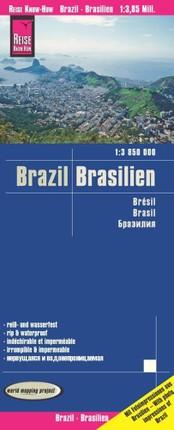 Reise Know-How Landkarte Brasilien / Brazil (1:3.850.000)