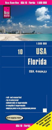Reise Know-How Landkarte USA 10, Florida (1:500.000)