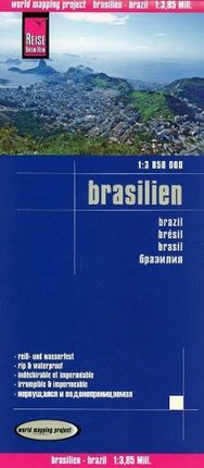 Reise Know-How Landkarte Brasilien 1 : 3 850 000