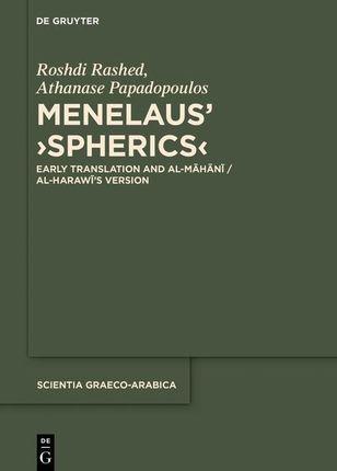 Menelaus' >Spherics<