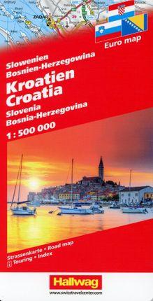 Kroatien / Slowenien / Bosnien-Herzegowina 1 : 500 000
