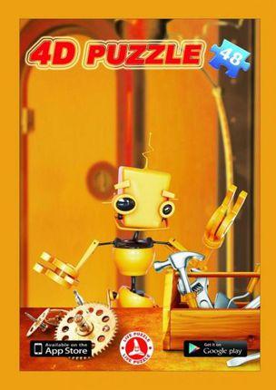 Atgyjanti 4D dėlionė Robotukas (48 det.)