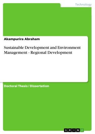 Sustainable Development and Environment Management - Regional Development