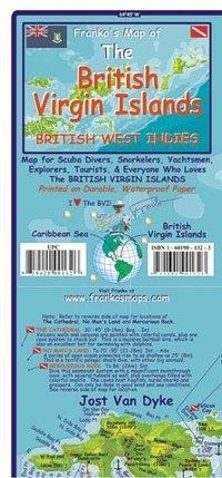 Franko Map U.S. & B.I. Virgin Islands Dive Map