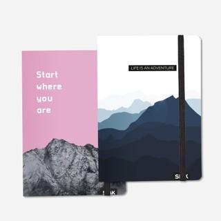 TAŠKUOTOS UŽRAŠINĖS Start Where You Are & Life is Adventure (2 vnt)
