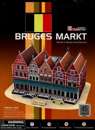 3D dėlionė: Bruges Markt