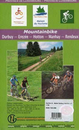Ourthe et Aisne / Durbuy - Erezeé - Hotton - Manhay - Rendeux  1 : 50 000 mit MTB / Radrouten