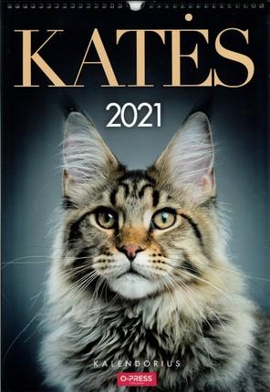 2021 m. sieninis kalendorius Katės (A3)