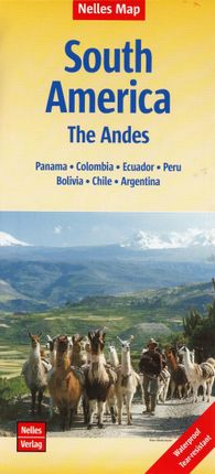 Nelles Map South America - The Andes 1 : 4. 500. 000