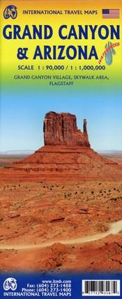 Grand Canyon 1:90 000 and Arizona Travel Reference Map 1:1 000 000