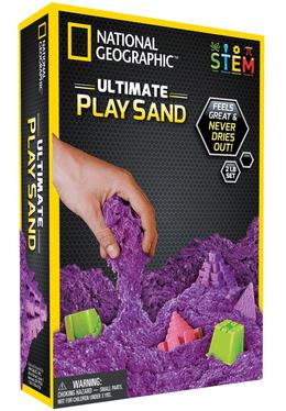 NATIONAL GEOGRAPHIC kinetinio smėlio rinkinys (violetinis)