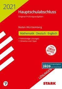 STARK Lösungen zu Original-Prüfungen Hauptschulabschluss 2021 - Mathematik, Deutsch, Englisch 9. Klasse - BaWü