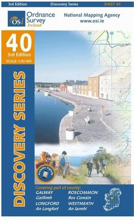 Irish Discovery Series 40. Galway, Longford, Roscommon, Westmeath 1 : 50 000