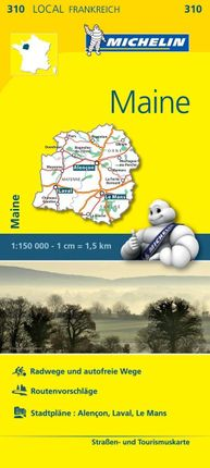 Michelin Maine 1 : 150 000