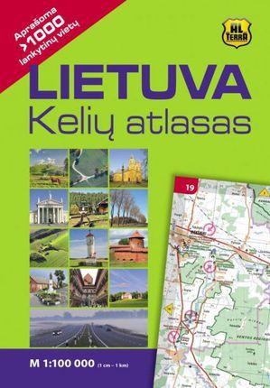 Lietuva. Kelių atlasas M1:100 000 (kieti viršeliai)