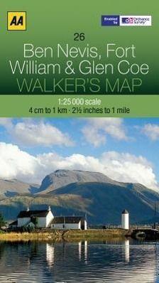 Walker's Map 26 Ben Nevis & Coe 1 : 25 000