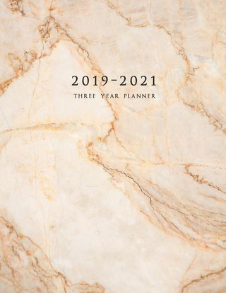 2019-2021 Three Year Planner: Weekly Planner 8.5 x 11 with To-Do List (Marble Cover Volume 4)