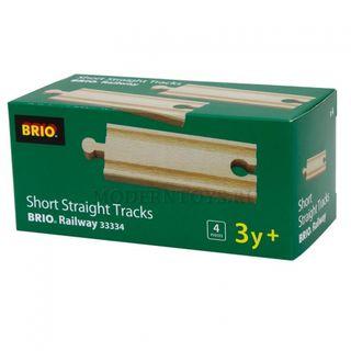 BRIO mažų tiesių kelio detalių rinkinys, 33334