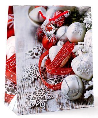 Kalėdinis dovanų maišelis (raudona juostelė)