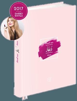 ATRASK SAVE. 365 DIENOS: tobulėk kasdien - Olesia Žuravliova sukūrė unikalią 2017 m. padidinto formato darbo knygą, kuri ne tik padės Jums stilingai planuoti naujus metus, bet ir taps nepamainomu kasdienio įkvėpimo šaltiniu + dvi juostelės Jūsų patogumui