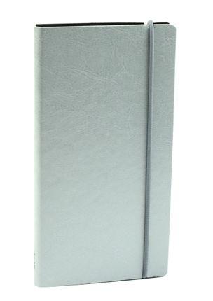 KIŠENINIS DARBO KALENDORIUS 2019 m. Solidaus dizaino, ypač kompaktiško dydžio kalendorius su lanksčiu, maloniu liesti viršeliu ir PILKOS SPALVOS KRAŠTAIS
