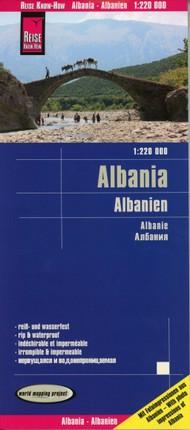 Reise Know-How Landkarte Albanien / Albania 1:220.000