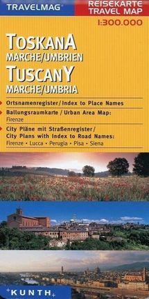 Toskana 1 : 300 000 Reisekarte