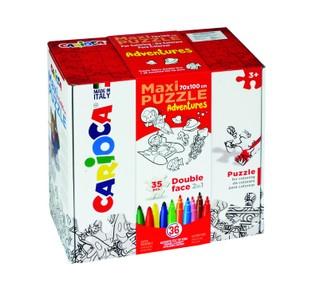 Dėlionė-rinkinys Nuspalvink pats CARIOCA (36 flomasteriai)