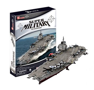 3D dėlionė: Aircraft carrier USS Enterpris