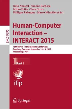 Human-Computer Interaction - INTERACT 2015