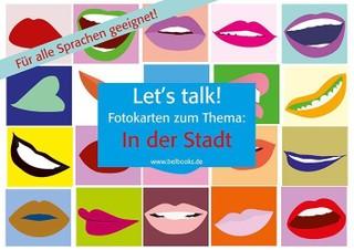 "Let's Talk! Fotokarten ""In der Stadt"" - Let's Talk! Flashcards ""In the City"""
