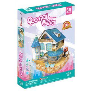 """3D dėlionė: lėlių namas """"Kaimo vasarnamis"""""""