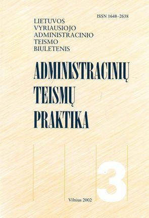 Administracinių teismų praktika Nr. 3