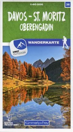 Davos - St. Moritz / Oberengadin 36 Wanderkarte 1:40 000 matt laminiert