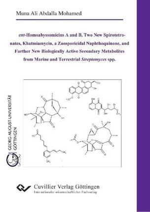 """ent-Homoabyssomicins A and B, Two New Spirotetronates, Khatmiamycin, a Zoosporicidal Naphthoquinone, and Further New Biologically Active Secondary"