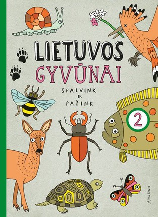 Lietuvos gyvūnai. Spalvink ir pažink. 2 d.