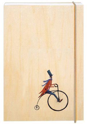 """Užrašų knygelė mediniais viršeliais """"Retro dviratis"""""""