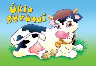 Ūkio gyvūnai. Linksmos užduotys mažyliams