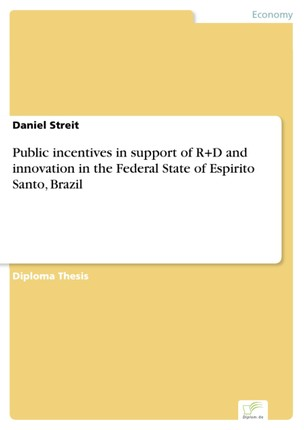 Public incentives in support of R+D and innovation in the Federal State of Espirito Santo, Brazil