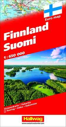 Finnland Suomi Strassenkarte 1:650 000